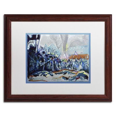 """Trademark Art """"The Blue and the Gray"""" by Lowell S.V. Devin Framed Painting Print Size: 1"""