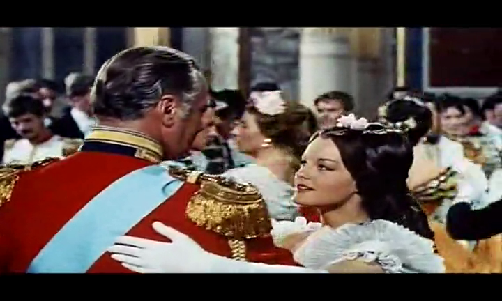 Katia (1959) eye to eye with her Tsar Alexander II of Russia, drowned in each others looks. An unbelievable and magnificent love affair adopted from the real history.