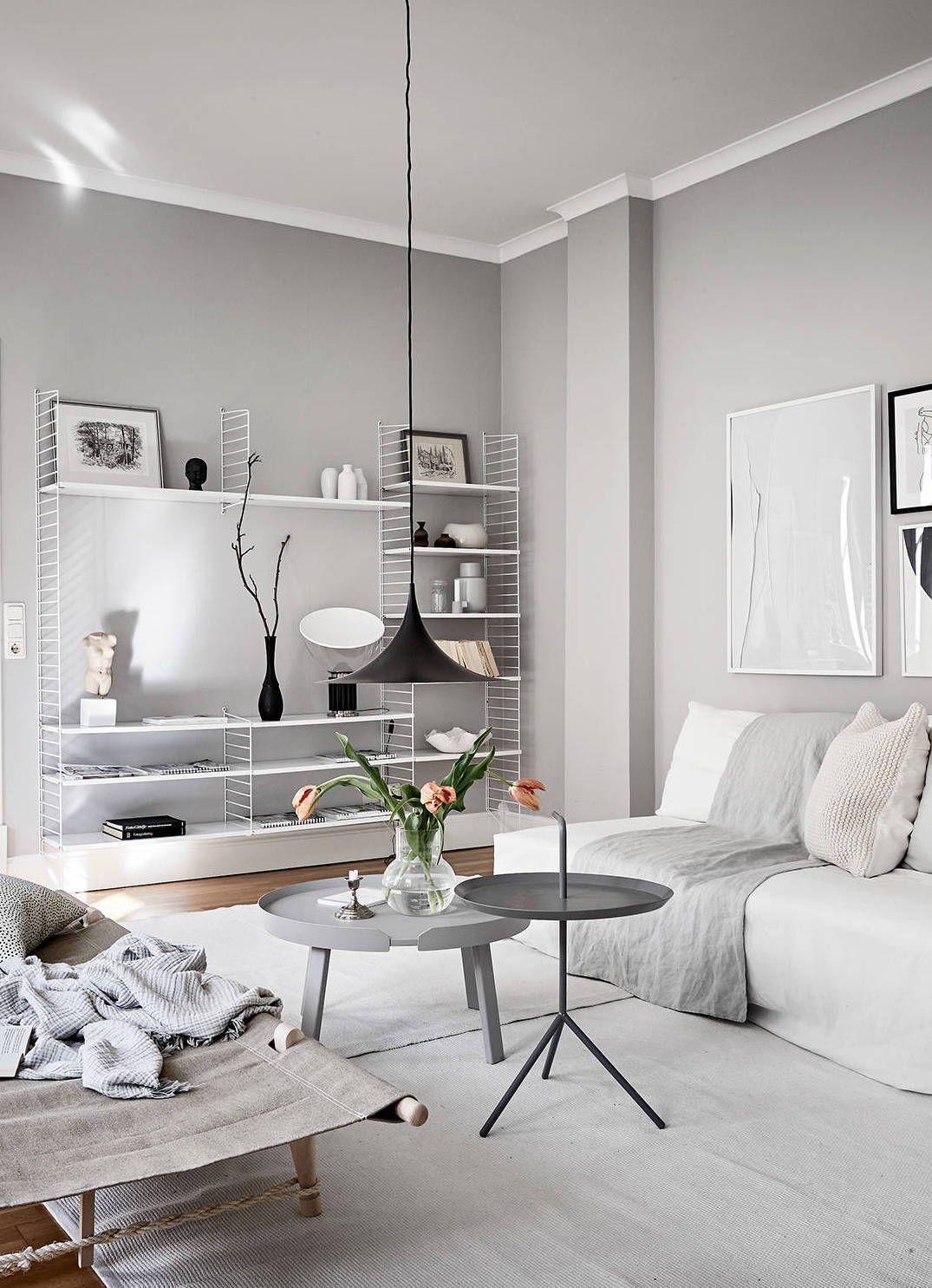 Light Flooded Home In Grey Via Coco Lapine Design Blog Dizajn Interera Dizajn Doma Interer