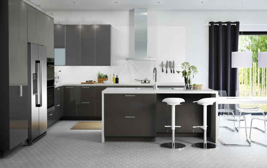 Us Furniture And Home Furnishings Sleek Kitchen Contemporary Kitchen Ikea Kitchen Design