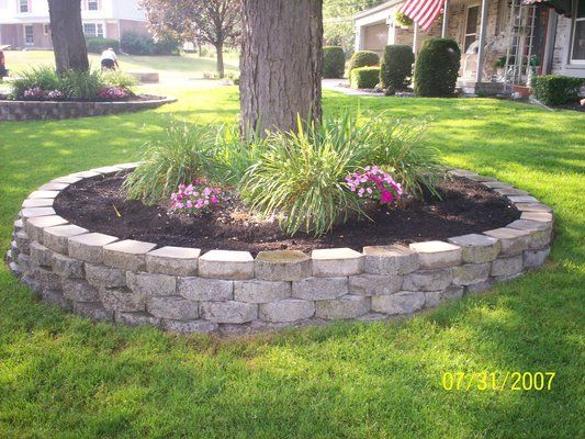 Flower Garden Ideas Around Tree landscaping around trees | the setup: installing a masonry