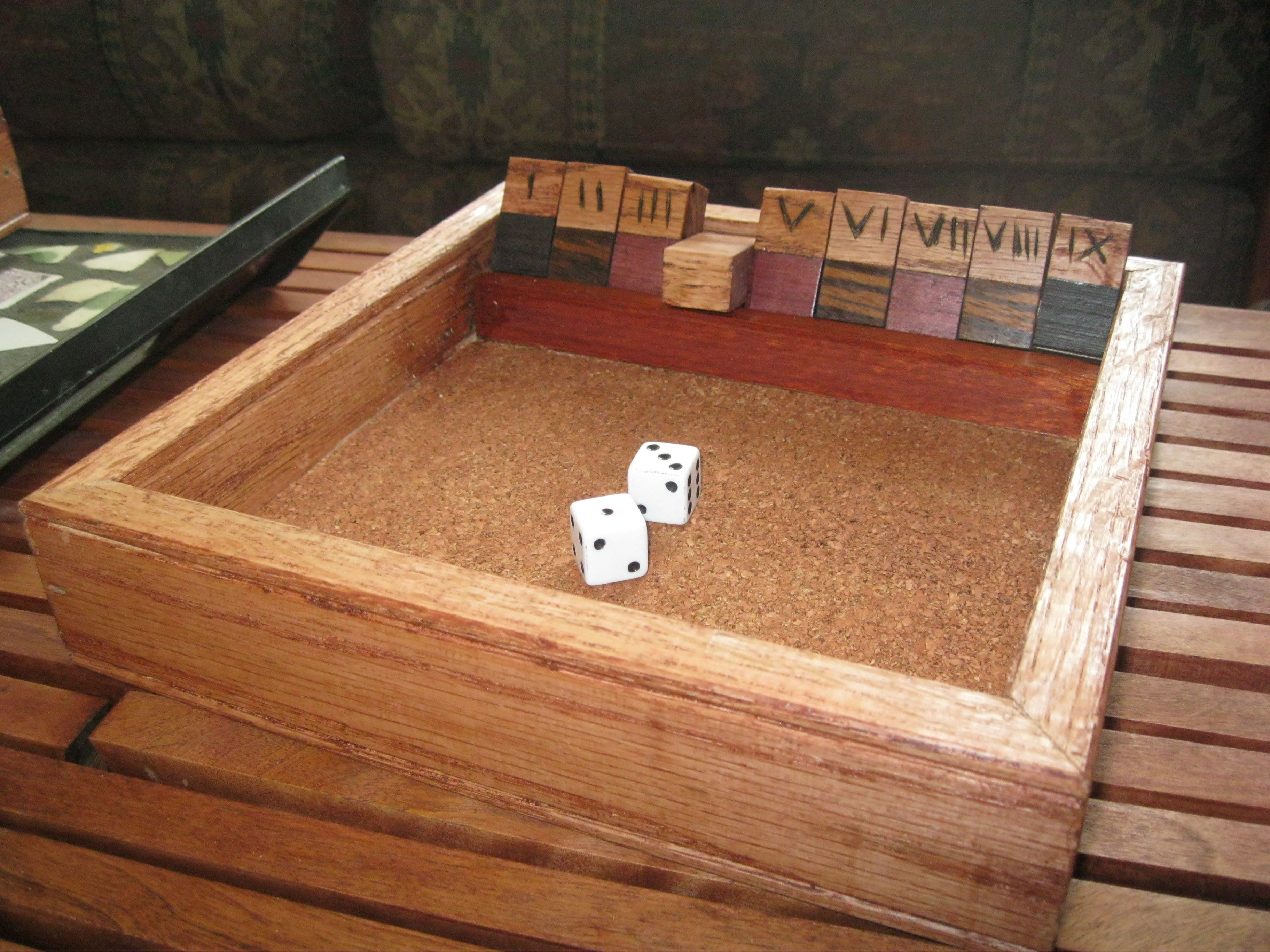 woodworking shut the box game. fun simple game easy woodworking