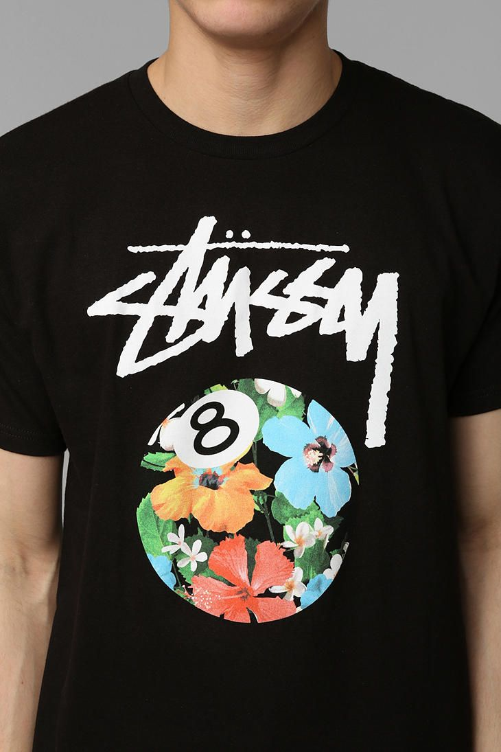ecefbda9 Stussy 8 Ball Flower Tee - Urban Outfitters | gnarly in 2019 | Men ...