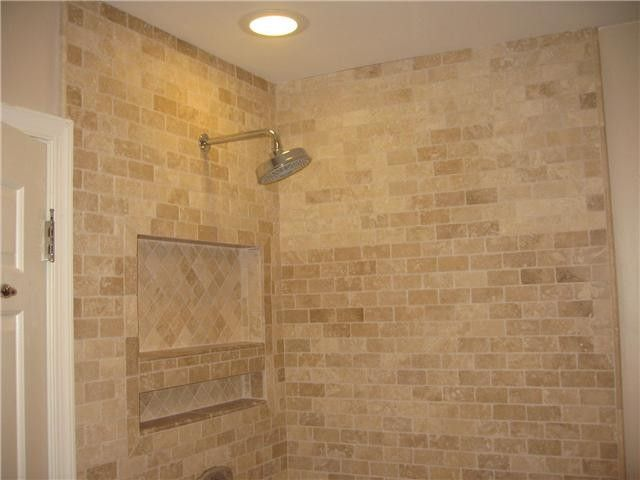 Charming Travertine Bath Tile Modern Bathroom | Master Bathroom Ideas . Part 18