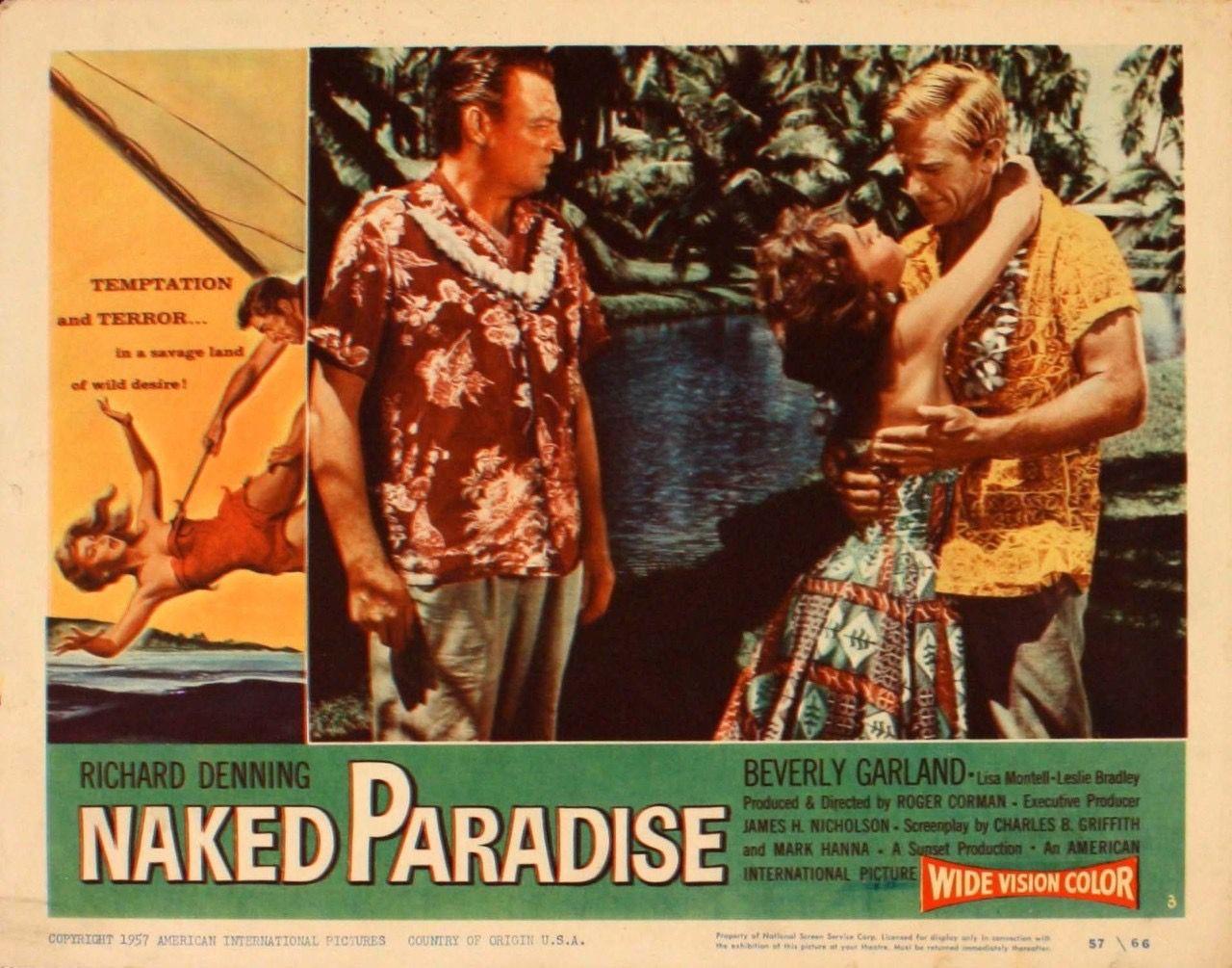 Naked Paradise (American International, 1957). Three Sheet