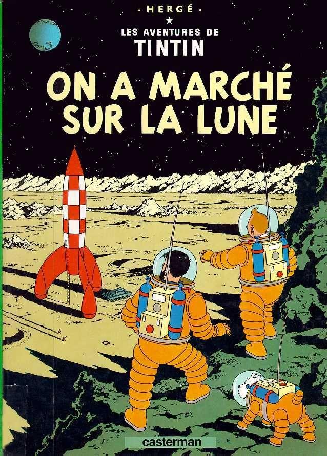 les aventures de tintin on a marche sur la lune