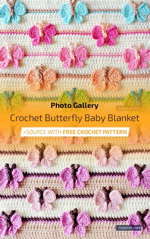 Crochet Butterfly Baby Blanket | Maggie\'s Crochet - All About ...