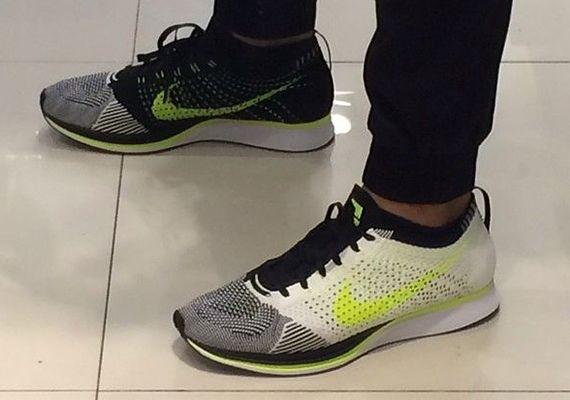 Progreso Poder Náutico  Nike Flyknit Racer - White - Black - Volt - SneakerNews.com | Nike ...
