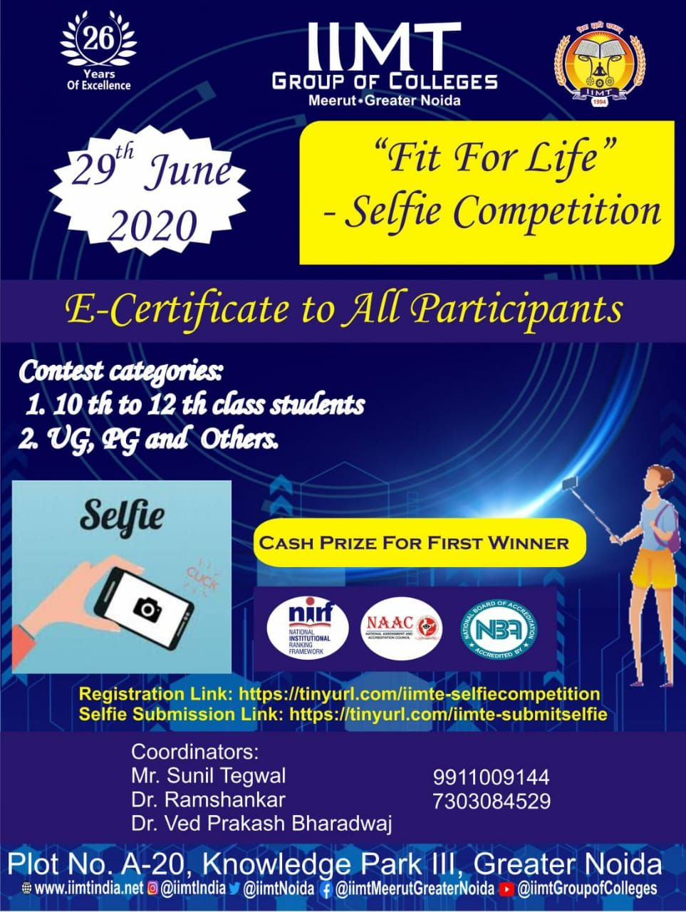 Iimt group of colleges is organizing fit for life