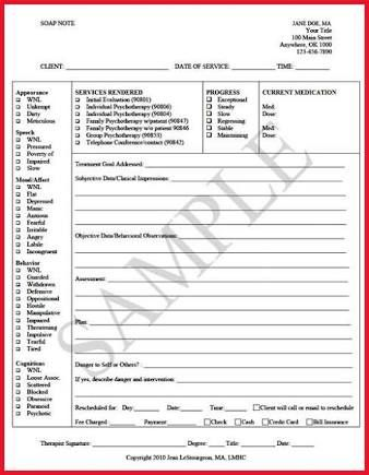 Image Result For Case Note Template For Social Work Soap  Work