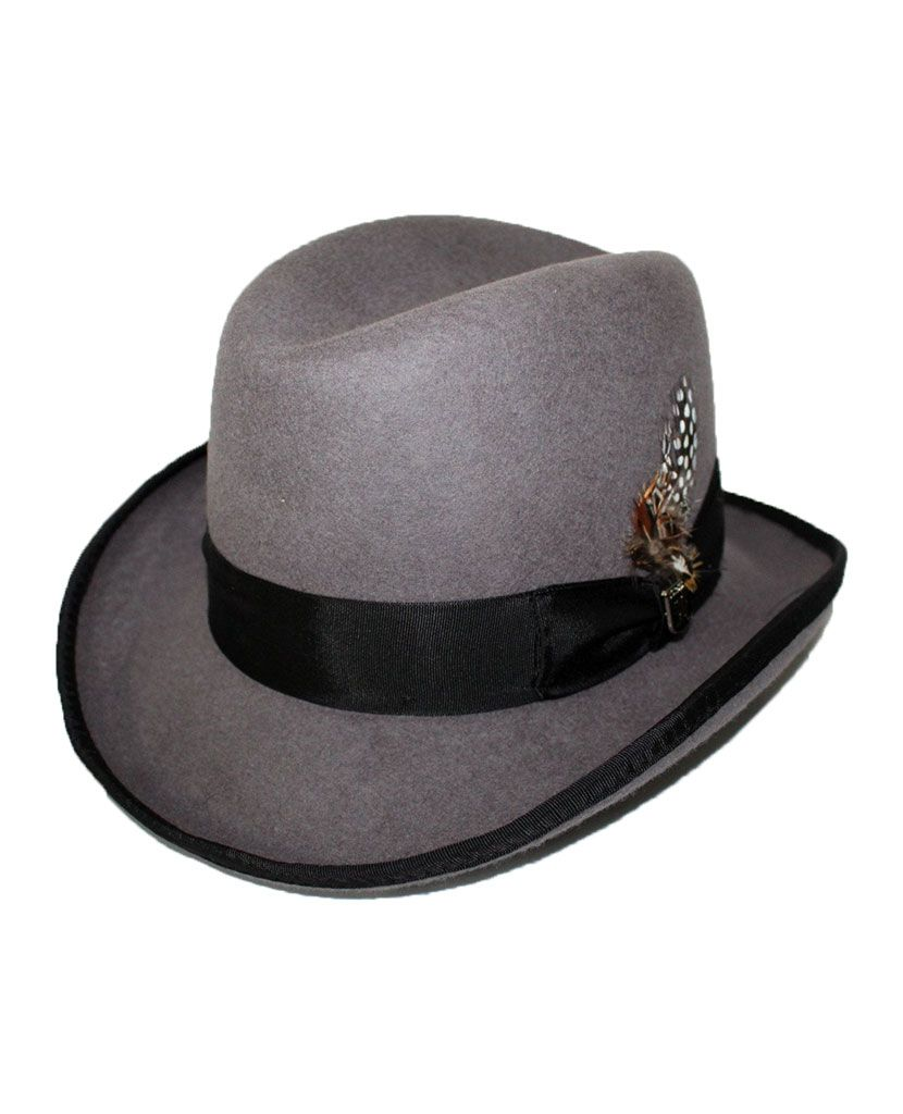 524073d7c4c0 This Stacy Adams homburg turns an ordinary hat into your signature. The  two-tone design along with .