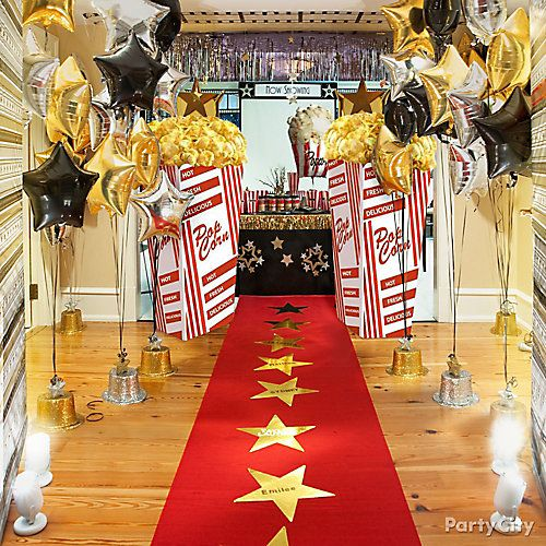 Red carpet hollywood party ideas hollywood dance themes for Hollywood party dekoration