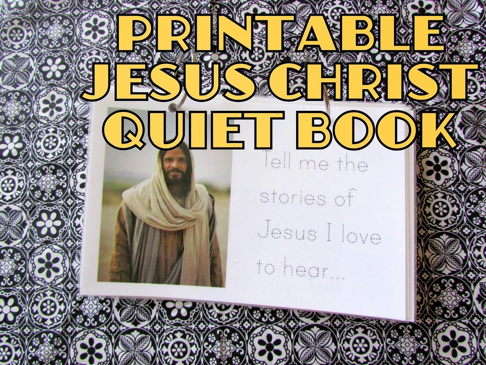 jesus christ flipbook free quiet book printable perfect easy