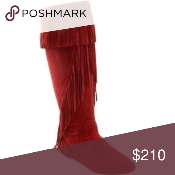 81424ed74 Sam Edelman Utah Suede Tall Boots with Fringe super cute red fringe boots