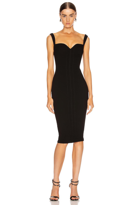 Victoria Beckham Cami Fitted Dress In Black Fwrd Victoria Beckham Dress Spice Girls Outfits Victoria Beckham Style [ 1440 x 953 Pixel ]