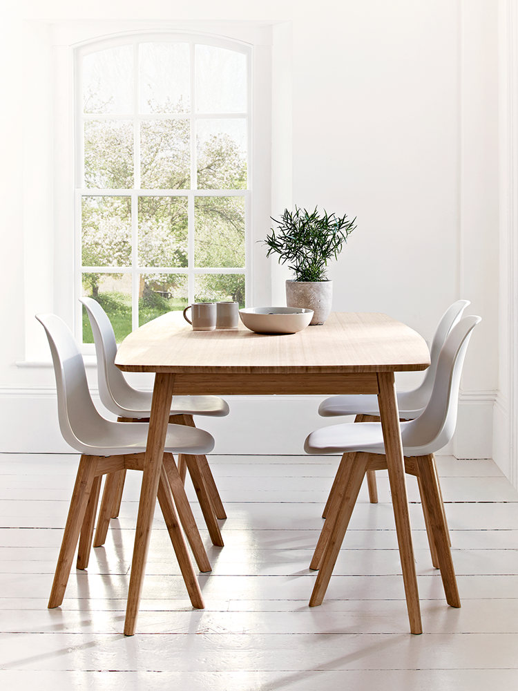Aalto Table With Four Dining Chairs Sustainable Design Which Is Crafted From Carbonised B Scandinavian Dining Room Dining Room Design Dining Room Decor Rustic