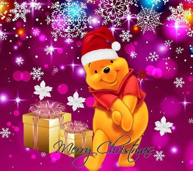 Winnie christmas wallpaper winnie l 39 ourson pinterest - Winnie l ourson noel ...