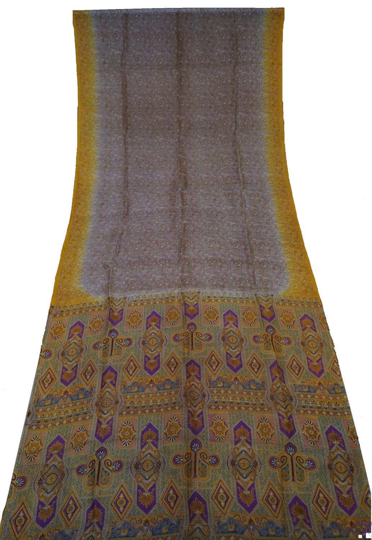 $8.99 : Vintage Pure Silk Decor Craft Saree Dress Recycled Printed Work Women Sari Tradition Indian  - 7925394