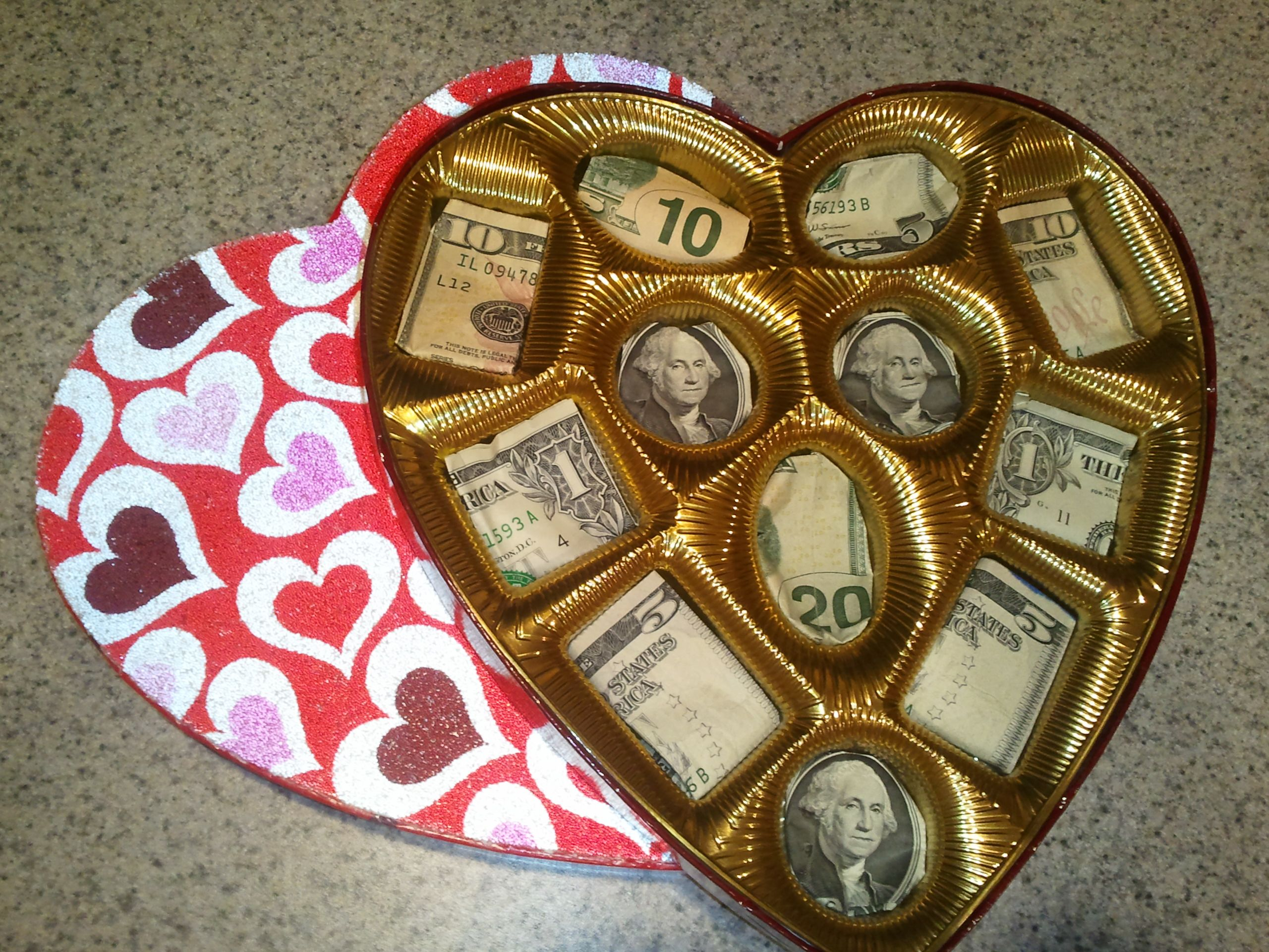 Cute Valentine Money Box instead of Chocolates, perfect for a big kid