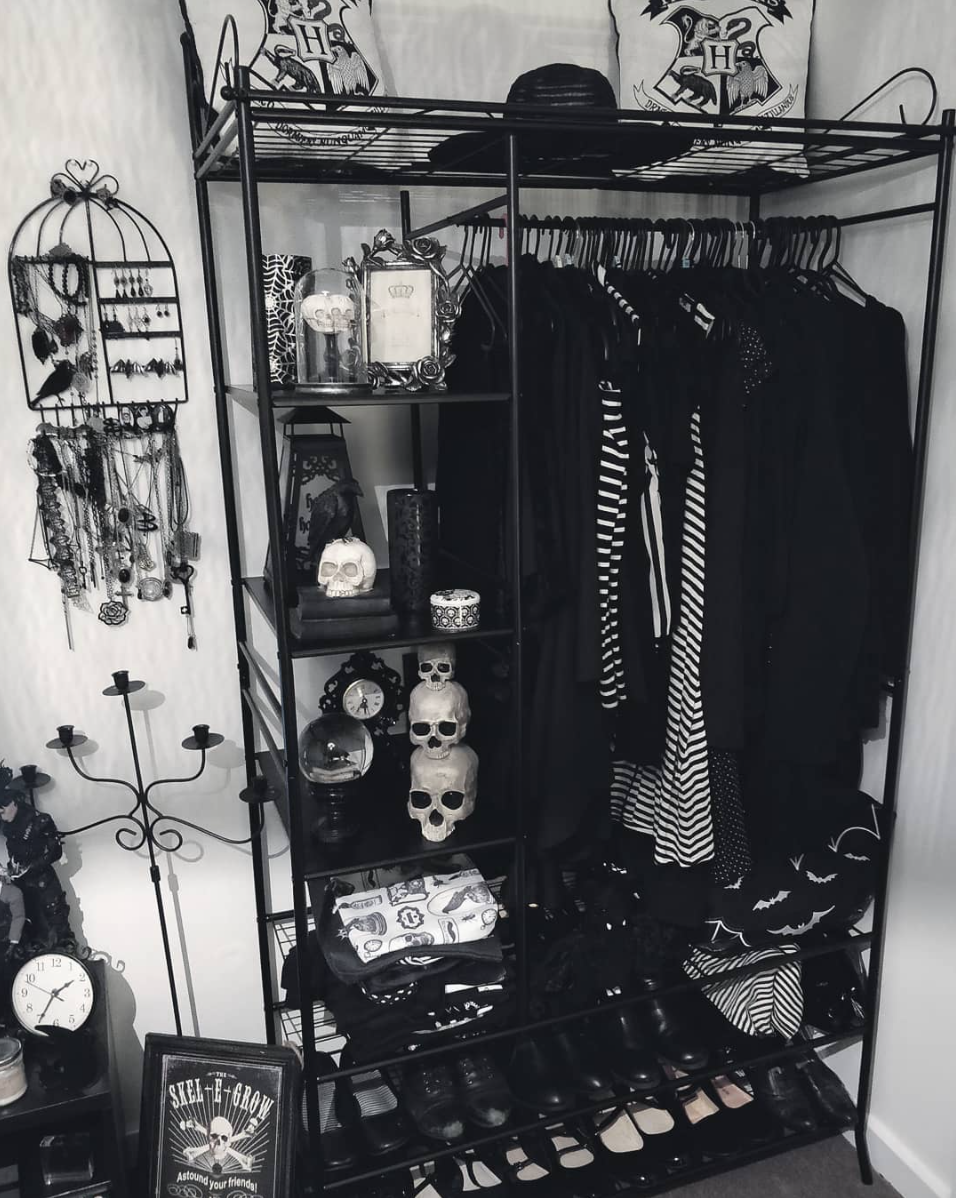 "Photo of The Goth Housewife: Photo – gothichomemaking: ""Ahh, a closet for which you …"