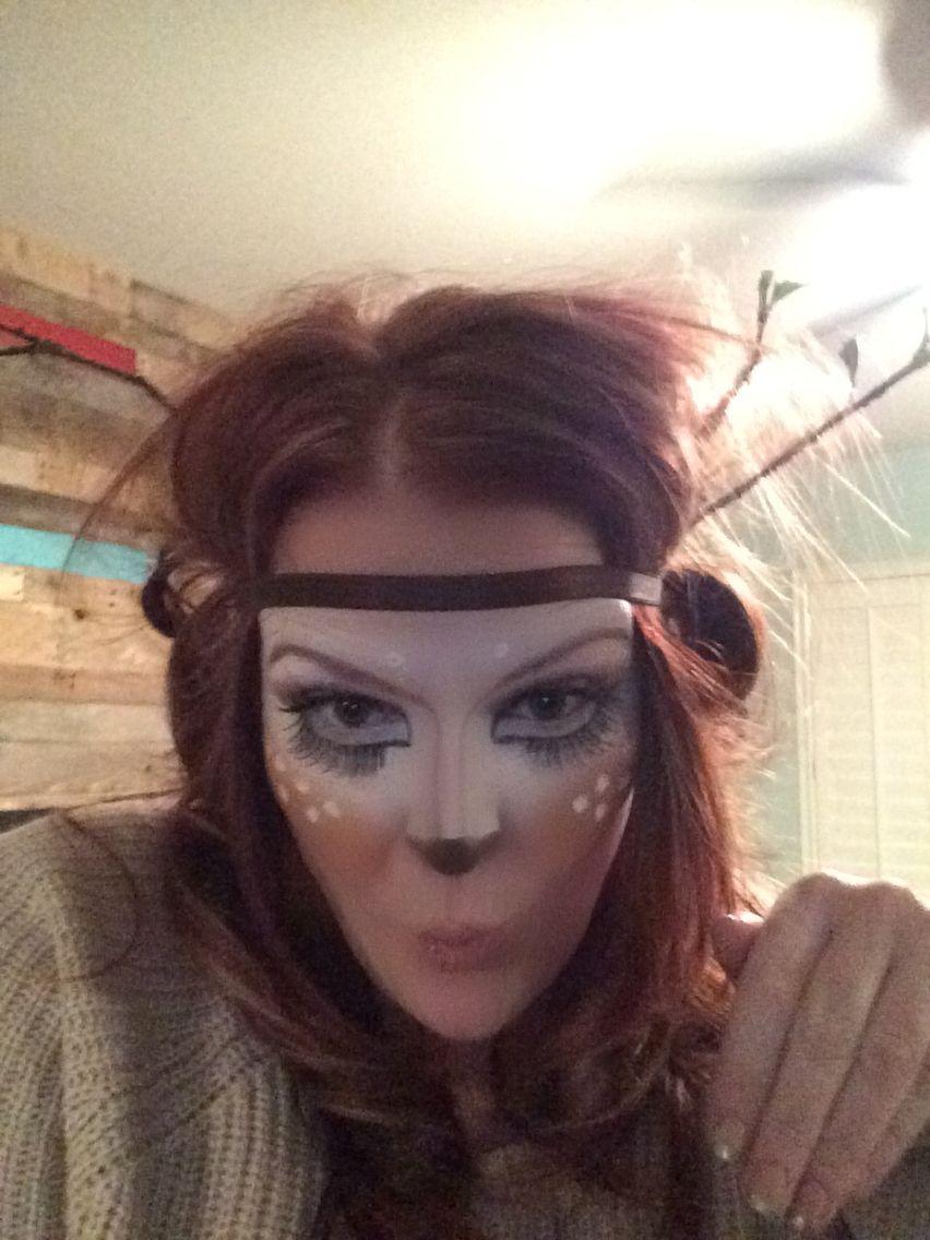 Reindeer makeup Reindeer makeup, Deer makeup, Makeup