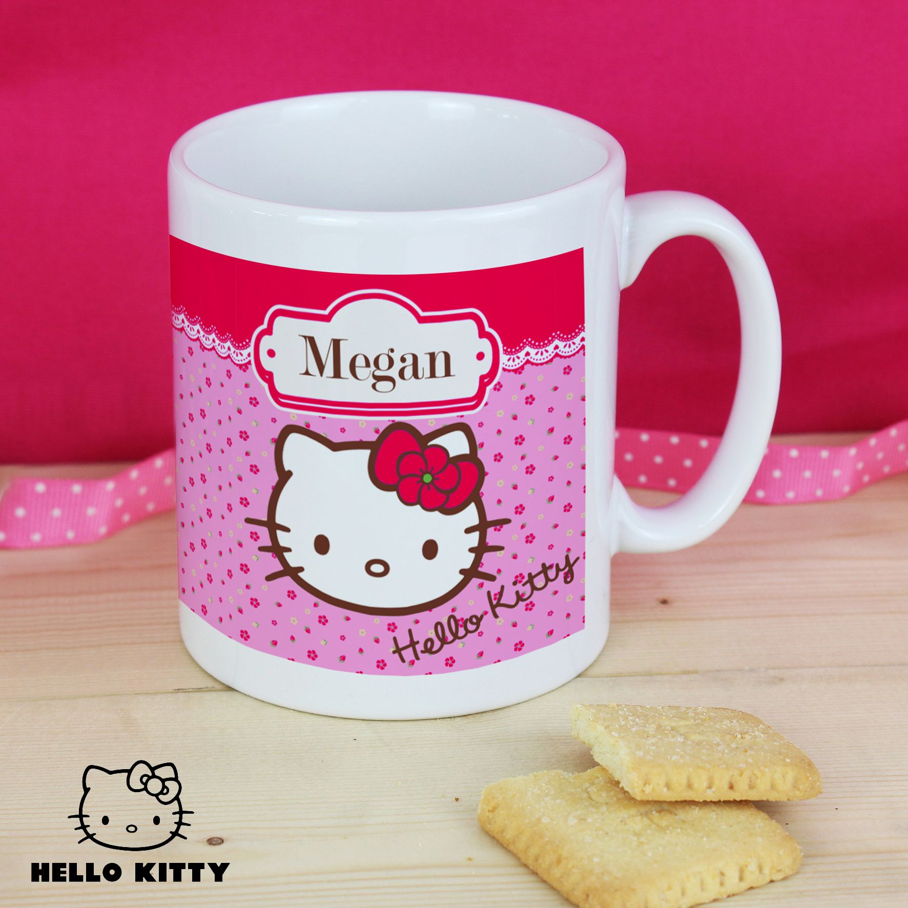 Hello kitty floral mug hello kitty gifts hello kitty