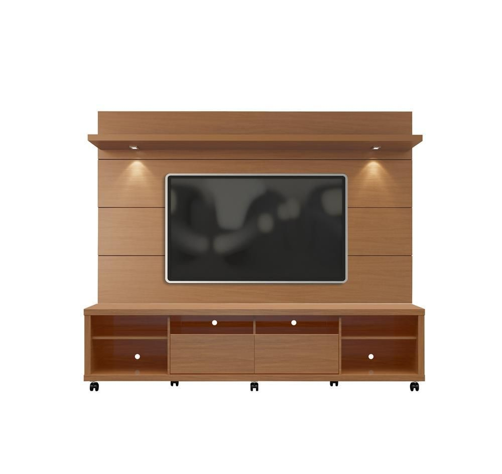 Manhattan Comfort Cabrini TV Stand and Floating Wall TV Panel with ...