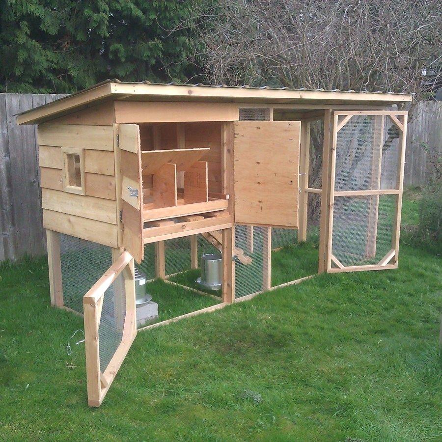 Pin Pa Alle Til Hage Backyard chicken house designs