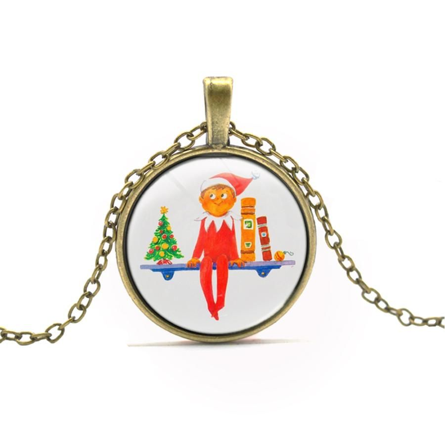 Christmas elf pendant necklace elves pendants and latest jewellery