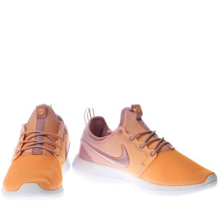 womens nike orange roshe two br trainers