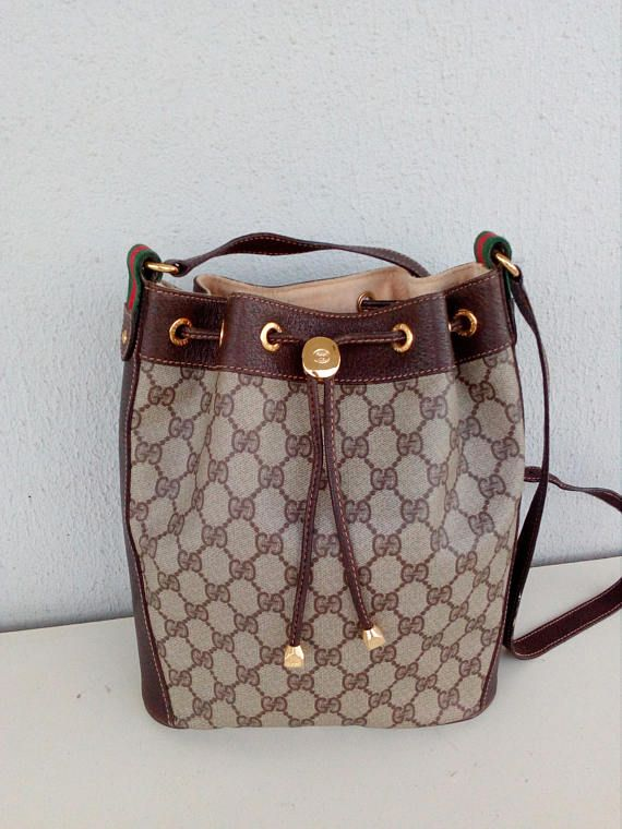 271ab6478 vintage Gucci bucket / drawstring bag in 2019 | Vintage Gucci bags ...