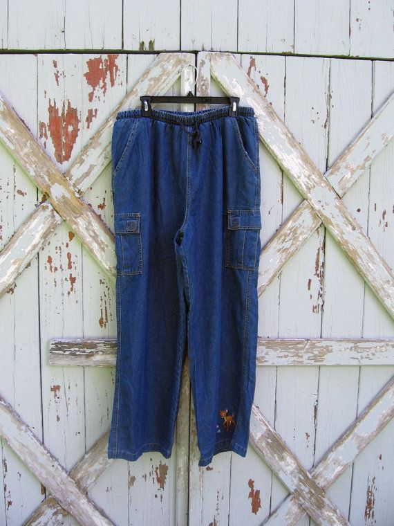 Vintage Disney Catalog Bambi mom jeans XL #vintage #Disney #catalog #xl #mom #cargo #jeans