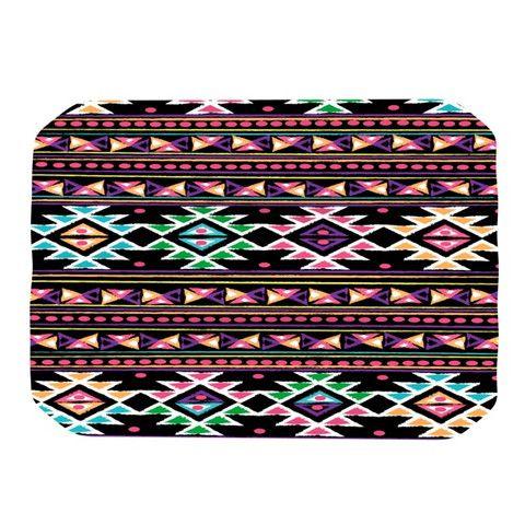 Black Aylen Place Mat 18.00$   #black #tribal #pattern #neon #. Home Decor  ...