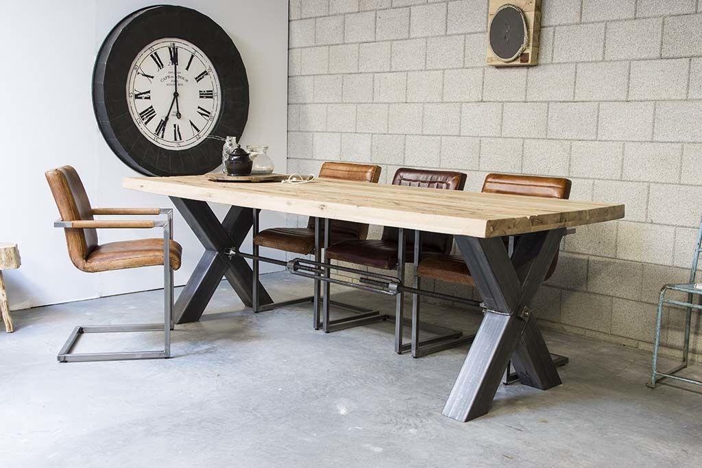 Tafel met stalen onderstel kruis google zoeken huis for Stalen onderstel tafel laten maken