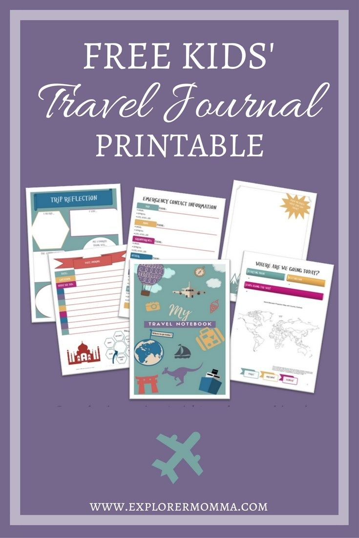 Awesome Travel Journal Ideas for Kids {with free printables ...