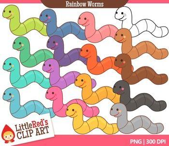 Rainbow Worms Clip Art   Clip art, Art, Worm clipart