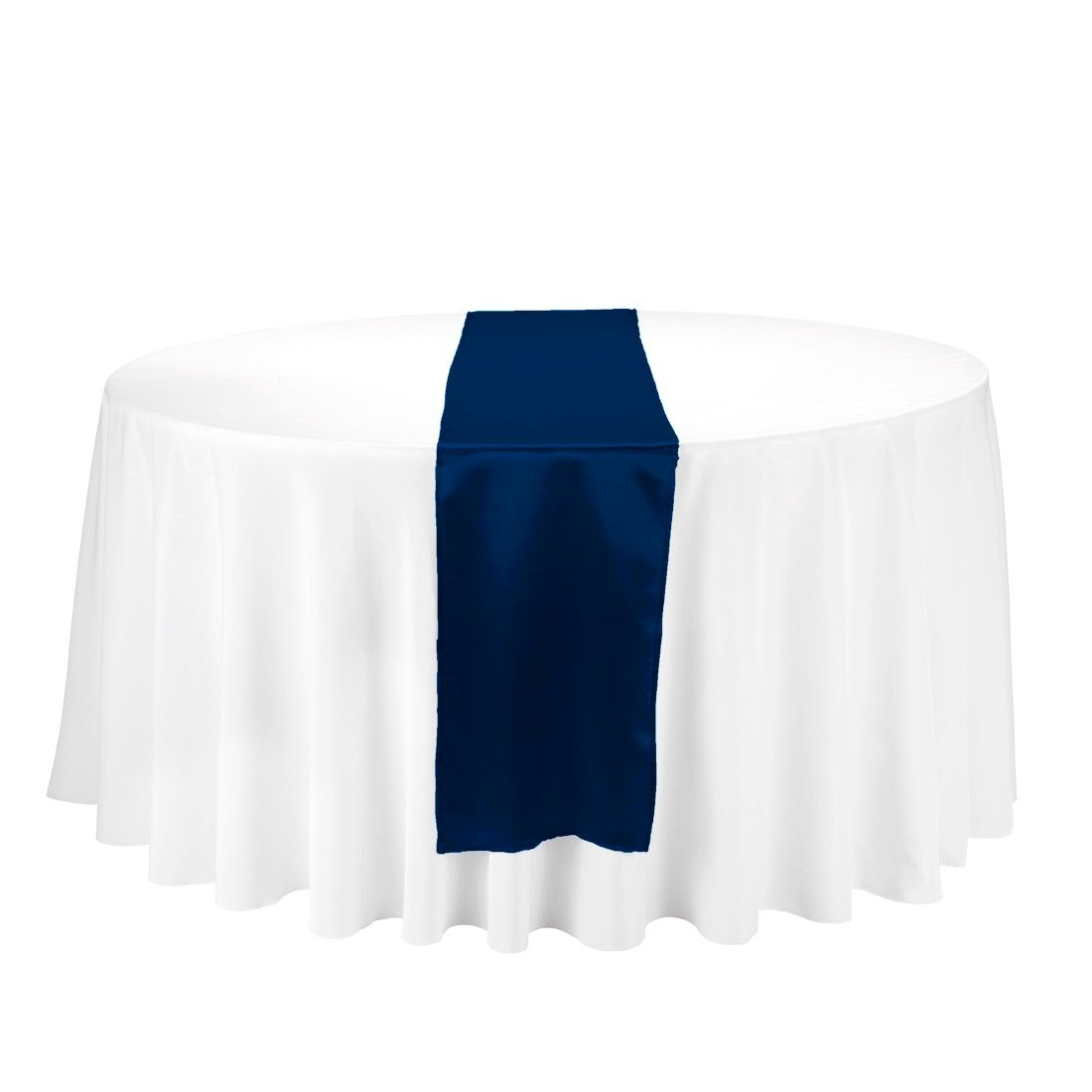 Satin Table Runner Navy Blue Linentablecloth.com Less Than $1