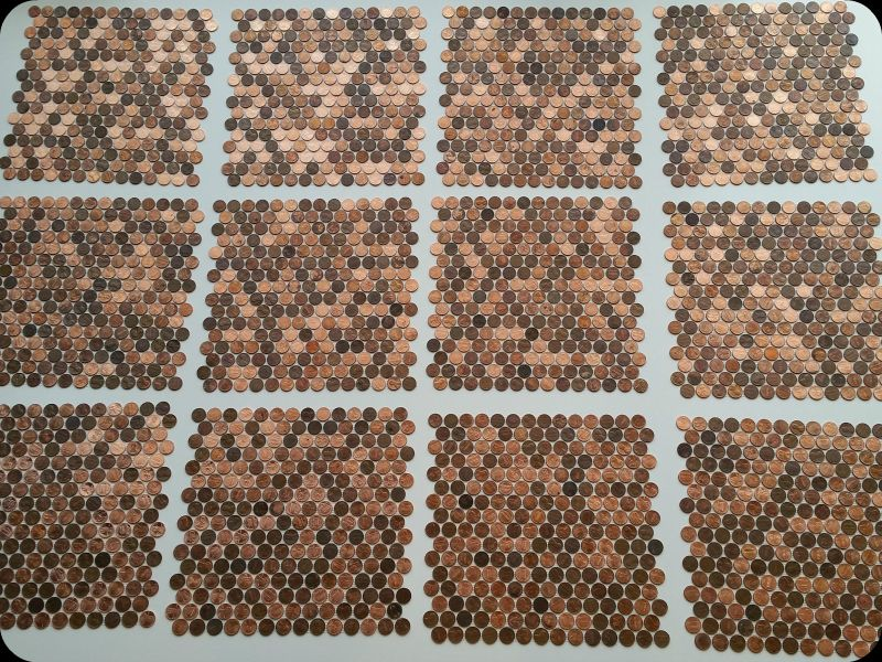 12 Real Penny Tile Sheets About To Perfectly Interlock