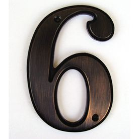 5 In Aged Bronze House Number 6 Lowes 5 Bronze House House Numbers Bronze