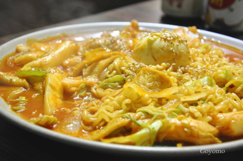 HK Wu Kei Sha Trip; Korean food in HK rice cake with pickle
