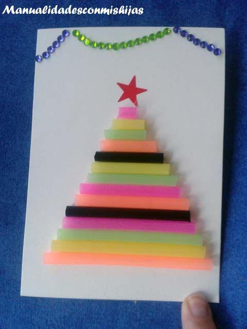 Pino De Navidad Realizado Con Pajitas Navidad Pinterest