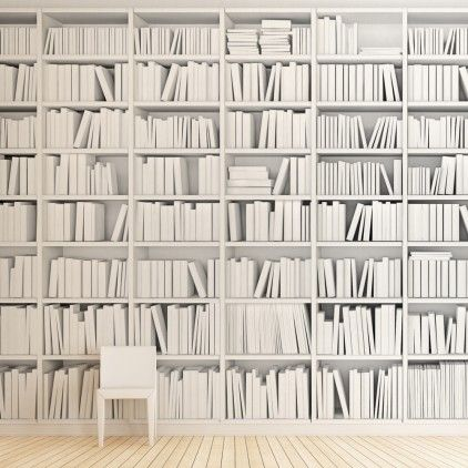Faux-book wallpaper | Interiors | Pinterest | Wallpaper, Wallpaper ...