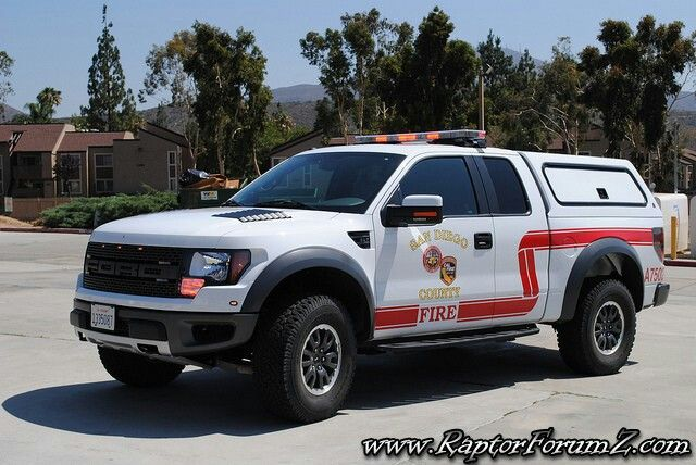 San Diego County Fire Ford Raptor Emergency Vehicles Fire Trucks Rescue Vehicles