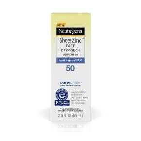 Neutrogena Sheer Zinc Sunscreen Face Lotion Spf 50 2oz Neutrogena Sunscreen Face Lotion Face Sunscreen