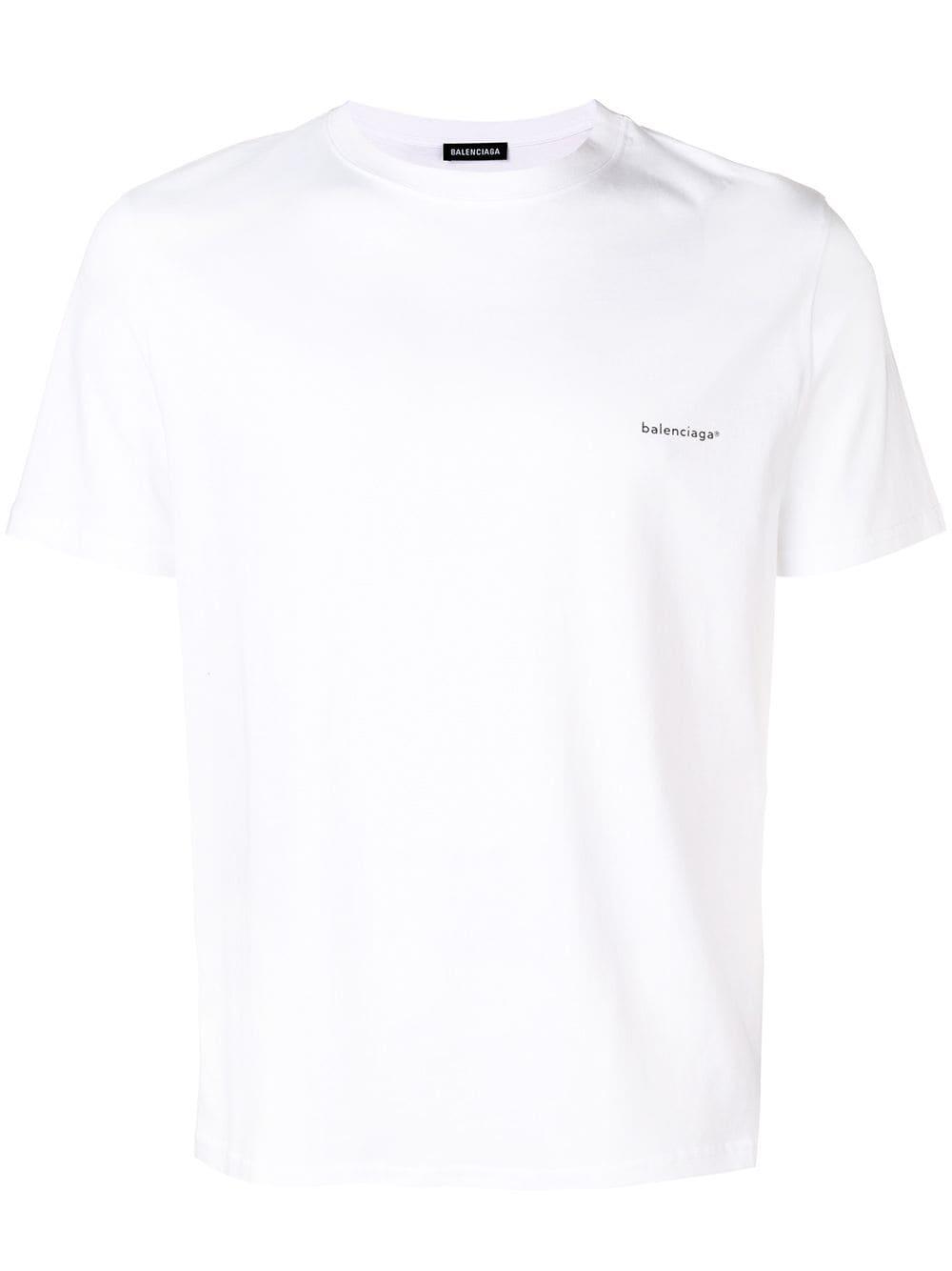 01f3b414fdfe Balenciaga logo print T-shirt - White in 2019 | Products ...