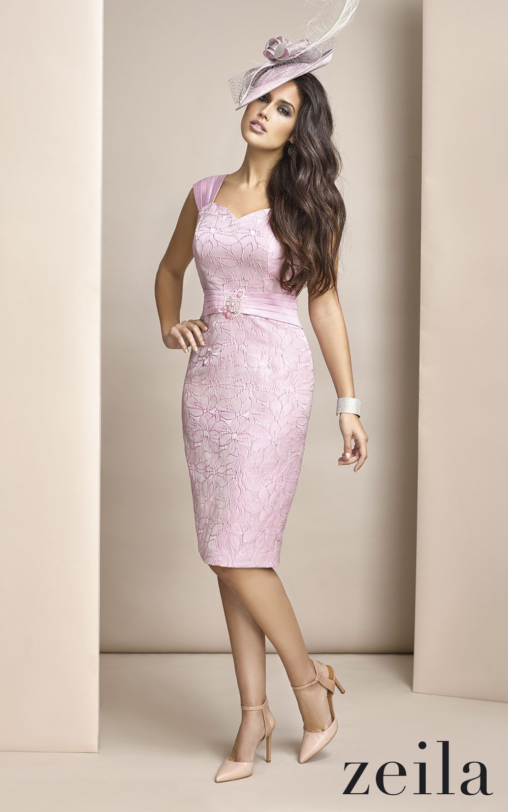 A Fabulous Pale Pink Dress With Laced Detail By Zeila Perfect For Mother