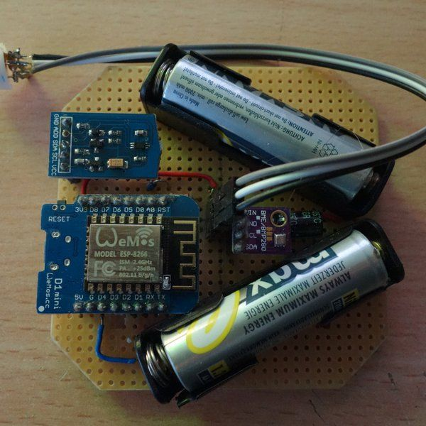 A compact, battery powered IOT multi sensor module with wifi & MQTT support. Feat. temperature, humiditity, lux, air pressure, PIR & more