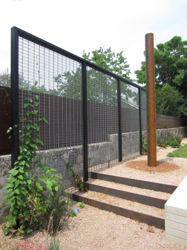 Metal Trellis Screen Freestanding To Coordinate W Fencing