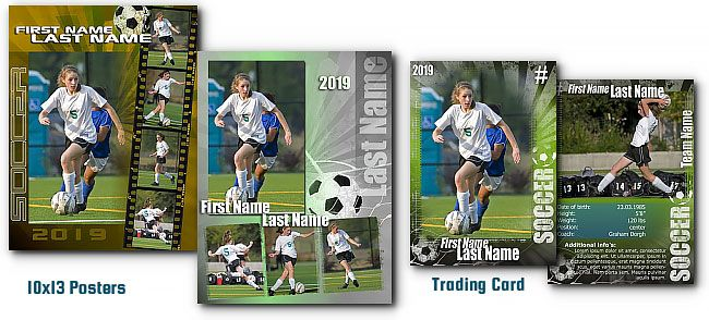 Soccer Signature Photoshop Templates Soccer Cards Trading Card Template Soccer Poster