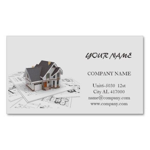 Renovation Handyman Construction Architect Business Card Zazzle Com Construction Business Cards Business Cards Layout Architecture Business Cards